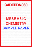 MBSE HSLC Chemistry Sample Paper 2020