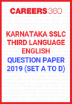 Karnataka SSLC Third Language - English Question Paper 2019