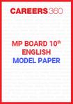 MP board 10th English Model Paper