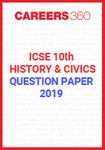 ICSE 10th History Question Paper 2019