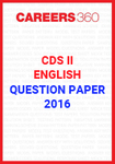 CDS II Question Paper - English (2016)