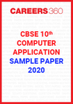 CBSE Class 10 Computer Applications Sample Paper 2020