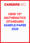 CBSE 10th Mathematics (Standard) Sample Paper 2020