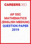 AP SSC Mathematics (English Medium) Question Paper 2019