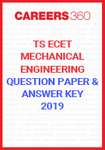 TS ECET Question Paper and Answer Key Mechanical Engineering 2019