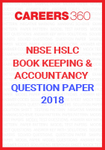 NBSE HSLC Book Keeping and Accountancy Question Papers 2018