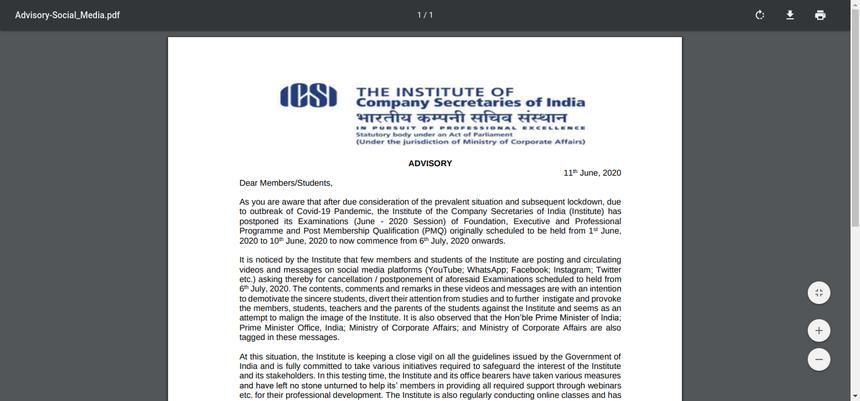 ICSI-Advisory