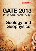 GATE 2013 Geology and Geophysics Previous Year Paper