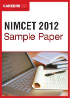 NIMCET Sample Paper 2012