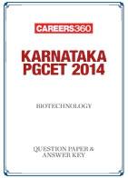 Karnataka PGCET 2014 Biotechnology Question Paper & Answer Key