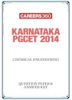 Karnataka PGCET 2014 Chemical Engineering Question Paper & Answer Key