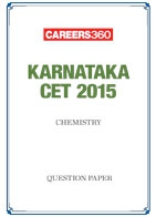 Karnataka CET 2015 Chemistry Question Paper
