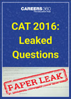 CAT 2016: Leaked Questions