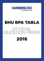 BHU BPA TABLA Sample Paper 2016