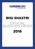 BHU BPA SHASTRI Sample Paper 2016