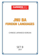 JNU BA Foreign Languages Sample Papers 2017-Chinese, Japanese, Korean– Set B