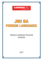 JNU BA Foreign Languages Sample Papers 2017-French, German, Spanish
