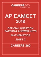 AP EAMCET 2018 OFFICIAL QUESTION PAPERS & ANSWER KEYS Mathematics Shift 2