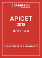 APICET 2018 Question Papers & Answer Keys