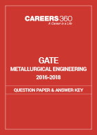 GATE 2016-2018 Metallurgical Engineering Question Paper and Answer Key
