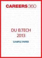 DU B.Tech 2013 Sample Paper