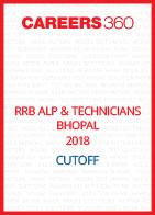 RRB ALP & Technicians Bhopal 2018 Cutoff