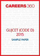 GUJCET 2015 Sample Paper (Code D)