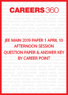 JEE Main 2019 Paper 1 April 10 Afternoon Session Question Paper & Answer Key by Career Point