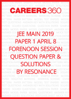 JEE Main 2019 Paper 1 April 8 Forenoon Session Question Paper with Solutions by Resonance