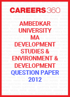 Ambedkar University MA Development Studies Question Paper 2012