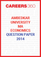 Ambedkar University MA Economics Question Paper 2014