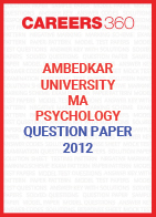 Ambedkar University MA Psychology Question Paper 2012