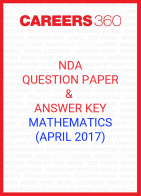 NDA Question Paper & Answer Key (April 2017) Mathematics