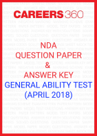 NDA Question Paper & Answer Key (April 2018) General Ability Test