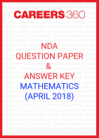 NDA Question Paper & Answer Key (April 2018) Mathematics