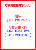 NDA Question Paper & Answer Key (September 2018) Mathematics
