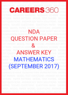 NDA Question Paper & Answer Key (September 2017) Mathematics