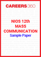 NIOS 12th Mass Communication Sample Paper