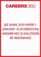 JEE Main 2019 Paper 1 January 10 (Forenoon) Answer Key and Solutions by Resonance