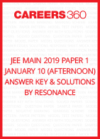 JEE Main 2019 Paper 1 January 10 (Afternoon) Answer Key and Solutions by Resonance