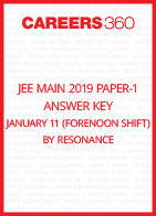 JEE Main 2019 Paper-1 Answer Key January 11 (Forenoon Shift) by Resonance
