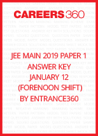 JEE Main 2019 Paper 1 Answer Key January 12 (Forenoon Shift) by Entrance360