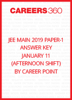 JEE Main 2019 Paper-1 Answer Key for January 11 by Career Point (Afternoon Shift)