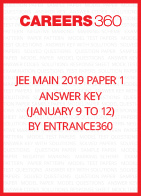 JEE Main 2019 Paper 1 Answer Key by Entrance360 (January 9 to 12)