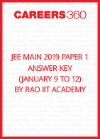 JEE Main 2019 Paper 1 Answer Key by Rao IIT Academy (January 9 to 12)