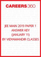 JEE Main 2019 Paper 1 Answer Key by Vidyamandir Classes (January 11)