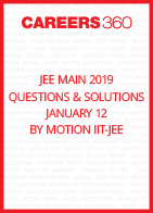 JEE Main 2019 Questions & Solutions By Motion IIT-JEE (January 12)