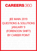 JEE Main 2019 Questions & Solutions by Career Point- January 9 (Forenoon Shift)