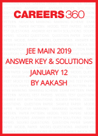 JEE Main 2019 Answer Key and Solutions- January 12 by Aakash