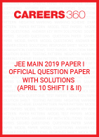 JEE Main 2019 Paper 1 Official Question Paper with Solutions - April 10